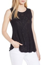 Bobeau Cutout Back Tank Black