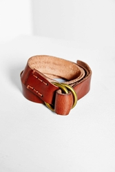 Bdg Tumbled Leather O Ring Belt Brown