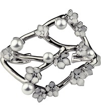 Shaun Leane Cherry Blossom Sterling Silver Diamond And Pearl Cuff