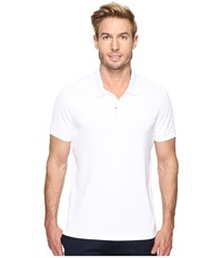 Perry Ellis Pique Zip Polo Bright White Men's Short Sleeve Pullover