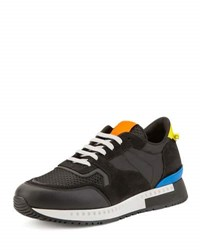 Givenchy Mixed Media Colorblock Trainer Sneaker Black Multicolor