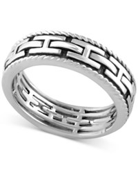 Effy Men's Chain Look Textured Band In Sterling Silver