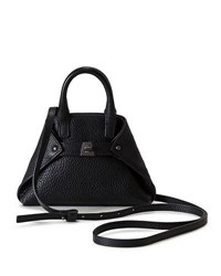 Akris Ai Micro Leather Crossbody Bag Black
