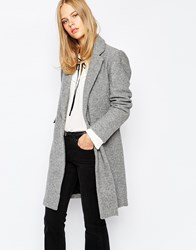 Pull And Bear Pullandbear Formal Coat With Pockets Gris