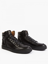 Marc Jacobs Black Leather Hi Top Sneakers