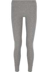 Atm Anthony Thomas Melillo Ribbed Stretch Micro Modal Leggings Gray