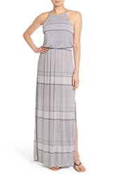 Women's Lush High Neck Maxi Dress Taupe Black