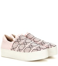 Opening Ceremony Cici Smocked Platform Slip On Sneakers Pink
