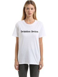 Nasaseasons Forbidden Desires Cotton Jersey T Shirt