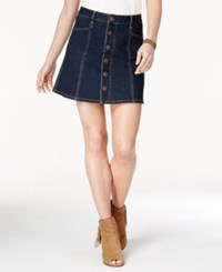 American Rag Button Down A Line Denim Skirt Only At Macy's Felicia Wash