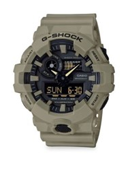 G Shock Front Button Strap Watch Beige Khaki