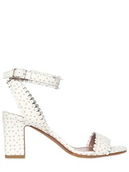 Tabitha Simmons 70Mm Letitia Perforated Leather Sandals