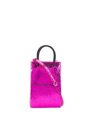 Balenciaga Shopping Phone Tote Bag Purple