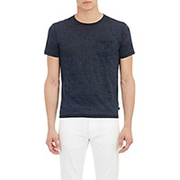 John Varvatos Star U.S.A. Men's Burnout Jersey T Shirt Blue