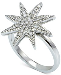 Giani Bernini Cubic Zirconia Star Ring In Sterling Silver Only At Macy's