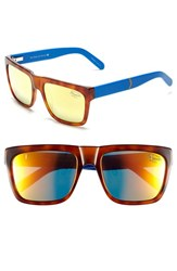 Men's Original Penguin 'The Flynn' 55Mm Polarized Sunglasses Tortoise Orange Mirror