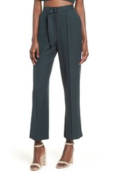 Moon River Belted High Waist Pants Forest