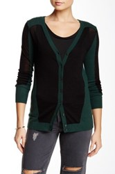 Shae Cashmere Blend Cardigan Green