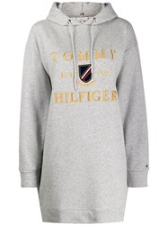 Tommy Hilfiger Hooded Sweater Dress Grey