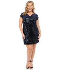 Mynt 1792 Sequin Shift Dress Black Iris Antique Silver Women's Blouse