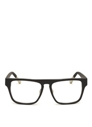 Kris Van Assche Rubberised Square Frame Optical Glasses Black