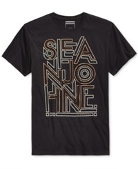 Sean John Men's Graphic Print T Shirt Pm Black