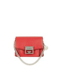 Givenchy Gv3 Mini Goatskin Leather Satchel Bag Bright Red