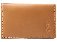 Polo Ralph Lauren Calf Leather Slim Card Id Brown Credit Card Wallet