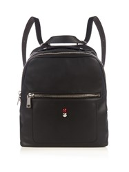 Fendi Faces Leather Backpack Black Multi
