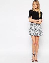Girls On Film Rose Print Skirt Multi