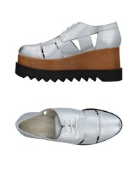 Le Stelle Lace Up Shoes Silver
