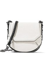 Rag And Bone Bradbury Mini Faux Textured Leather Shoulder Bag White