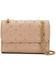 Tory Burch Fleming Stud Small Convertible Shoulder Bag Pink And Purple