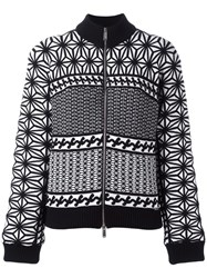 Dsquared2 Japanese Knit Pattern Jacket Black
