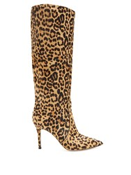 Gianvito Rossi Leopard 85 Knee High Boots