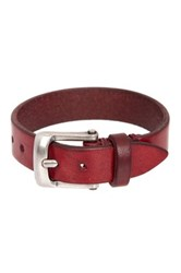 John Varvatos Basic Plain Skinny Cuff Bracelet Red