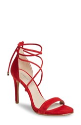 Kenneth Cole Women's New York Berry Wraparound Sandal Red Suede