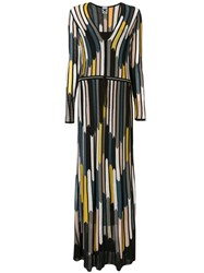 M Missoni Striped Long Dress Black