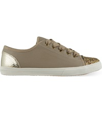 Kg By Kurt Geiger Lucca Glitter Trainers Nude