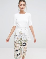 Ted Baker Layli Pencil Dress Ivory White