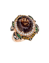 Le Vian 14Kt. Strawberry Gold Smoky Quartz And Multi Stone Ring Brown