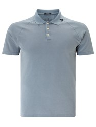 Denham Jeans Joey Raglan Sleeve Polo Shirt Mountain Blue