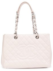 Chanel Vintage Quilted Shopper Tote Pink Purple