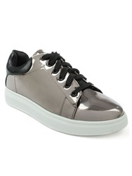 Daniel Catalpa Metallic Lace Up Trainers Metallic