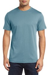 Robert Barakett Men's 'Georgia' Crewneck T Shirt Smoke Blue