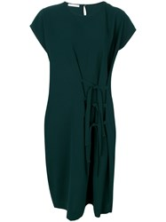 Societe Anonyme Big Shoulders Dress Polyester Green