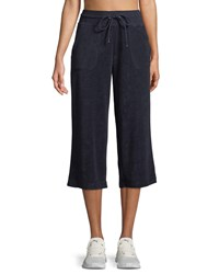 Marc New York Terry Culotte Track Pants Blue Pattern