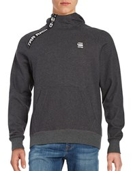 Guess Mockneck Hoodie Black Heather