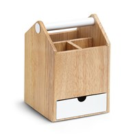 Umbra Toto Tall Storage Box White Natural