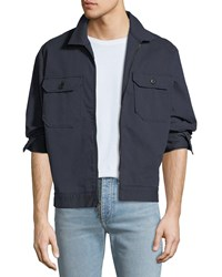 Ag Adriano Goldschmied Axle Shop Twill Jacket Blue